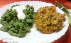 Găluște cu spanac și piept de pui cornflakes