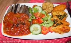 Steak Sirloin cu cartofi cu rozmarin