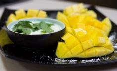 Mango cu iaurt cu mentă