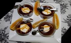 Desert cu portocale și ciocolată