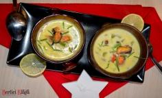Supă de scoici cu cartofi și porumb