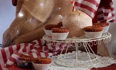 Muffin cu rom din făină de cocos