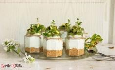 Desert de brânză topită cu salată de kiwi