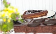 Tartă cu ciocolată și caramel