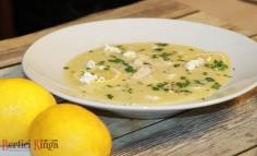 Avgolemeno ( supa greceasca de pui cu lamaie )